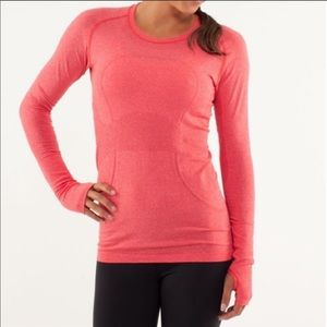 Lululemon Swiftly Tech Long Sleeve in Currant Red